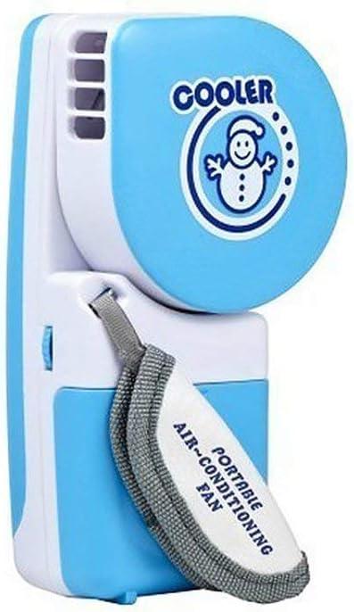 Candybarbar Aire Acondicionado de Verano Mini Ventilador USB Refrigeración de batería Recargable Estudiante Pequeño Ventilador portátil sin Hojas