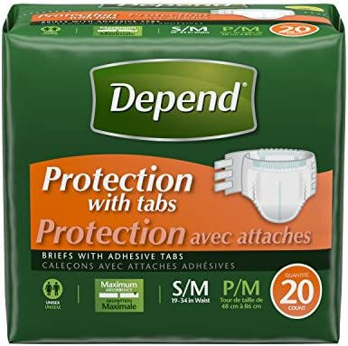 Depend Incontinence Protection Absorbency 20 Count product image