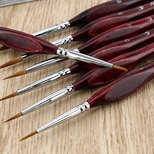 7PCS//SET Professional Fine Hand Painted Miniature Hook Line Pen Watercolor Paint Oil Painting Brush Drawing Art Pen