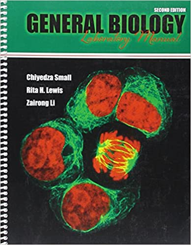 Amazon general biology laboratory manual 9781524904036 small general biology laboratory manual 2nd edition fandeluxe Gallery