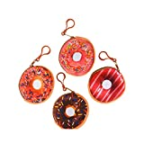 Bargain World 3.25'' Donut Coin Purse Keychain (With Sticky Notes)