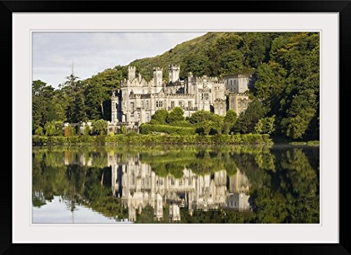 greatBIGcanvas Kylemore Abbey, County Galway, Ireland by Peter McCabe Photographic Print with Black Frame, 36
