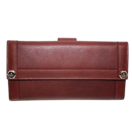 Gucci Leather Continental Flap Wallet 231839, Red (Gucci Wallets Continental Wallet)
