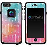 Rainbow Arrow Watercolor Tribal Skin Decal for iPhone 6 Lifeproof Case Design (Case not included)