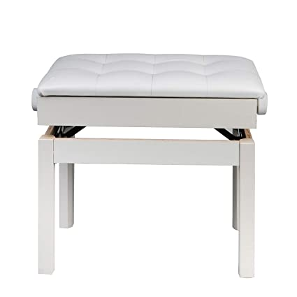 Amazon com: Adjustable Wooden Piano Bench Stool with Music