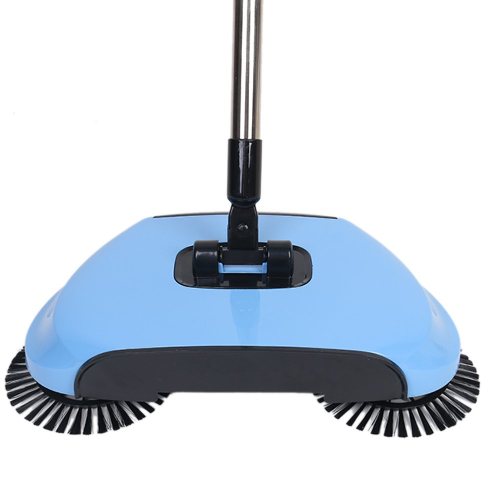 Lazy 3 in 1 Household Cleaning Hand Push Automatic Sweeper Broom – Including Broom & Dustpan & Trash Bin – Cleaner Without Electricity Environmental (Blue) by Dracarys (Image #2)