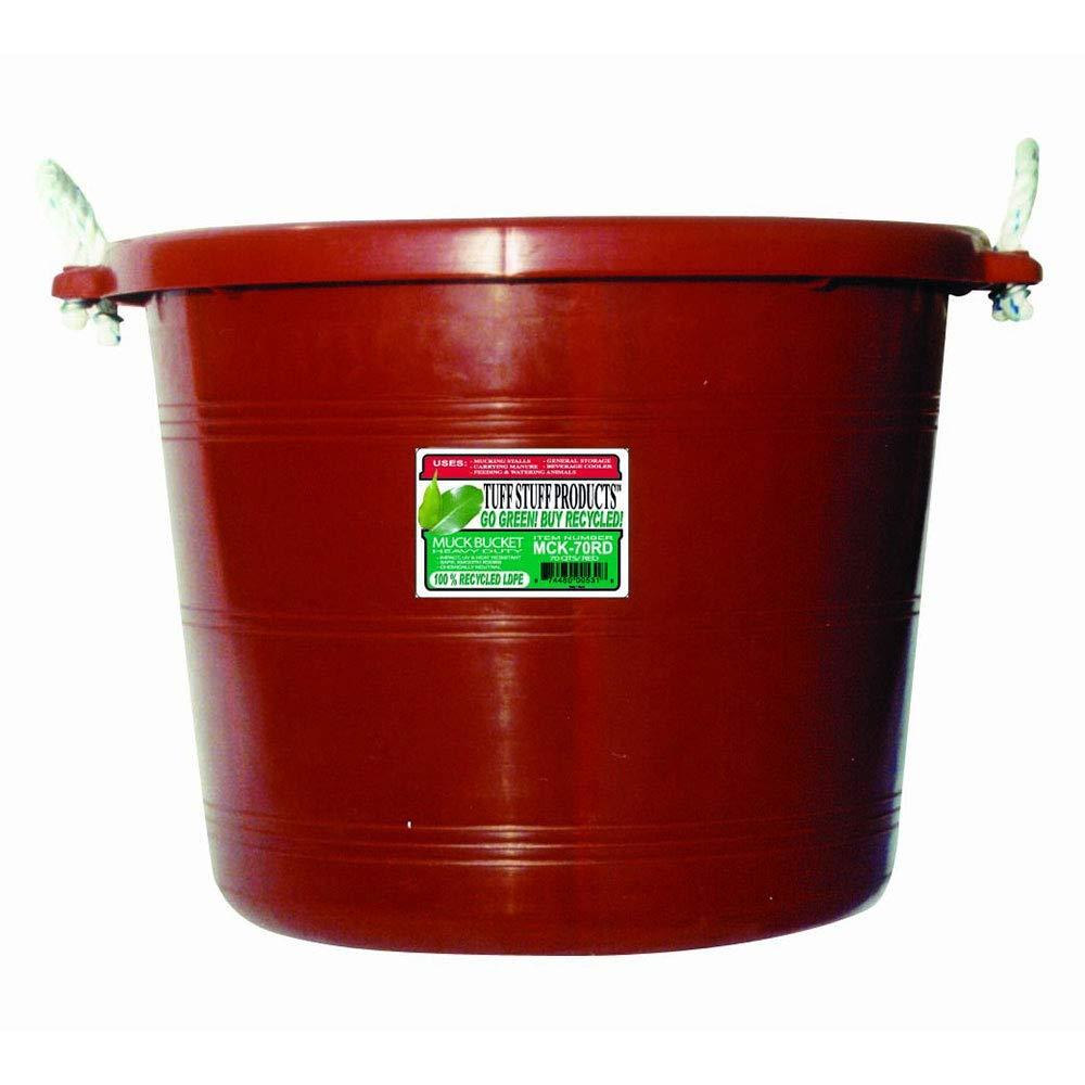 Tuff Stuff Products MCK70RD Muck Bucket, 70-Quart, Red by Tuff Stuff