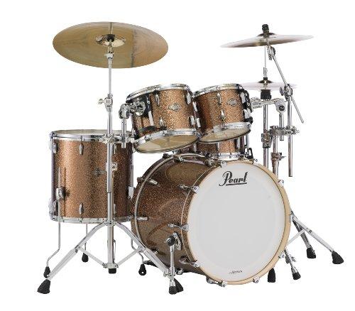 Pearl Masters BCX924XSP/C357 4-Piece Drum Shell Pack, Golden Bronze Glitter