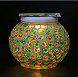 Solar Mosaic Glass Ball Garden Light Ball Mosaic Decorative Lights Stained Glass Decorative Table Lamp Garden, Corridor, Courtyard, Etc. ( Edition : D )