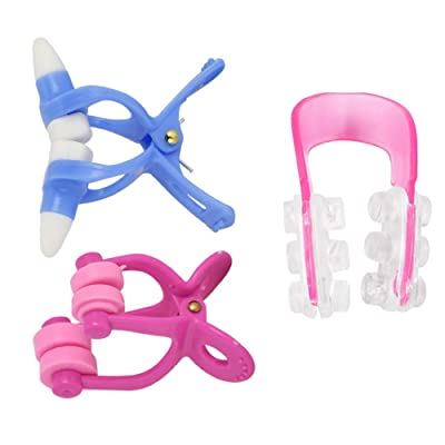 USHOT Nasal Nose, 3Pcs Silicone Clamp Clip Reshape Nose Up Lifting Shaping Shaper Rhinoplasty, Nose Plastic Nose 3-Piece Suit C Set: Toys & Games