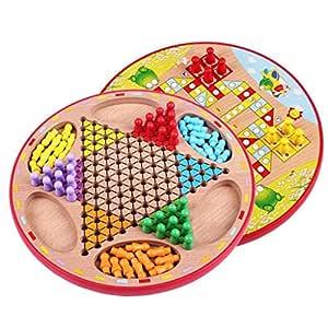 Toys of Juego de Damas Chinas y Gobang (Cinco en una Fila) - Juego ...