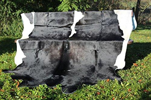 Sud Pièce Noir Unique blanc Vache Handsortiert Fashion blanc De Peau German Marron Hollert Leather Qualitätsfell 230 240 Kw17qzFZ0
