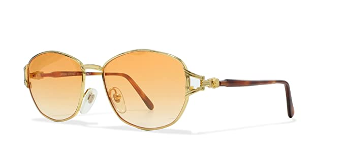 7b3a84a64a Versace Gianni Lunette de soleil - Femme Gold, Brown Medium: Amazon ...