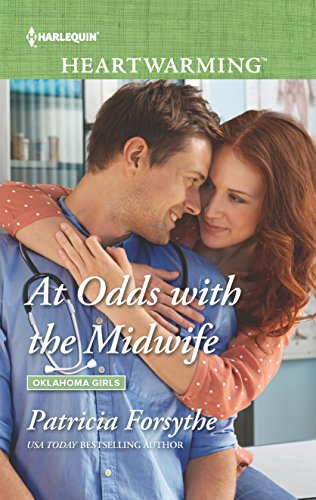 At Odds with the Midwife (Oklahoma Girls) by Harlequin Heartwarming Large Print