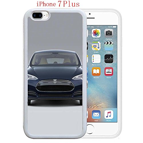 Reviews Shell Pink (iPhone 7 Plus Cases, Tesla Model S Review Main Drop Protection Never Fade Anti Slip Scratchproof White Soft Rubber Case)