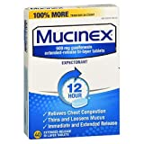 Mucinex 12-Hour Chest Congestion Expectorant Tablets, 40 ct