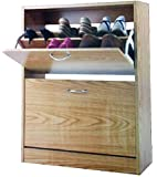 Storage Organizer Luxury Wooden 2 Tier Chaussures Shoe Cabinet by supersalestore