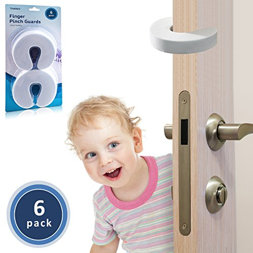 TODDLINO Finger Pinch Guard 6Pack Premium Quality Durable Baby Proofing Door Stopper Prevents Slamming Doors Locking Toddlers Out Eco Friendly Soft EVA Foam Child Safety Protector