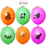 Unomor 30 PCS Halloween Punch Balloons for Kids Party Favors or Games, 16inches