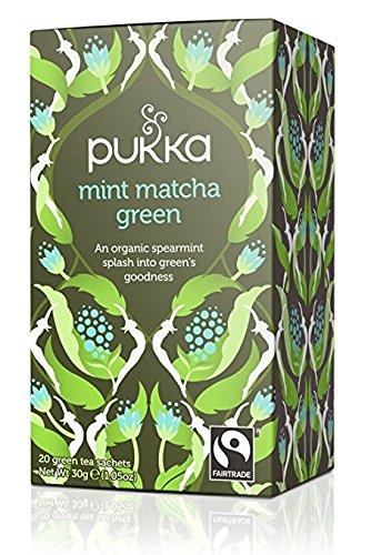 PUKKA - Té Verde Matcha a la Menta - Organico y Fairtrade - 20 Filtros: Amazon.es: Alimentación y bebidas