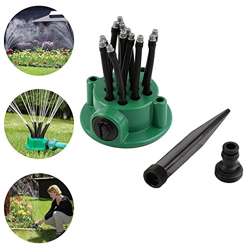 6' Vegetable Spray Hose (Garden Sprinkler AIGUMI 360 Degree Automatic Long Water Spray Nozzle Gardening Tools Irrigation Spray Shower Sprayer (1pack))