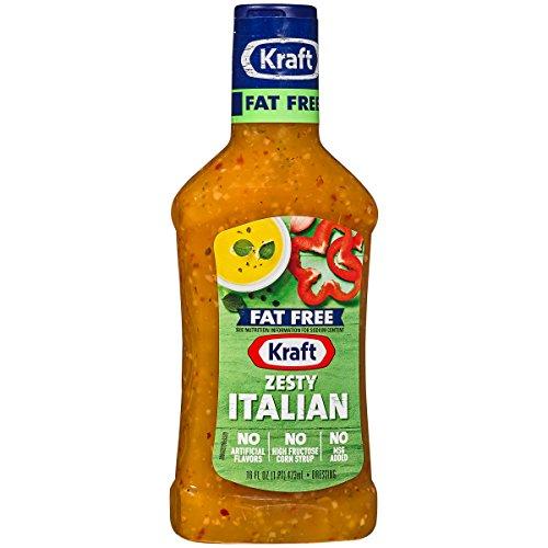 Kraft Fat Free Salad Dressing - Kraft Dressing, Zesty Italian, Fat Free, 16 oz