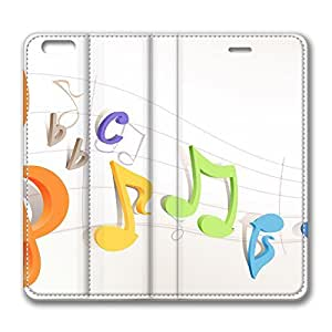 iPhone 6 Plus 5.5inch Leather Case, Colorful Musical Notes 1 Luxury Protective Slim Fit Skin Cover For Iphone 6 Plus [Stand Feature] Flip Leather Case Cover for New iPhone 6 Plus