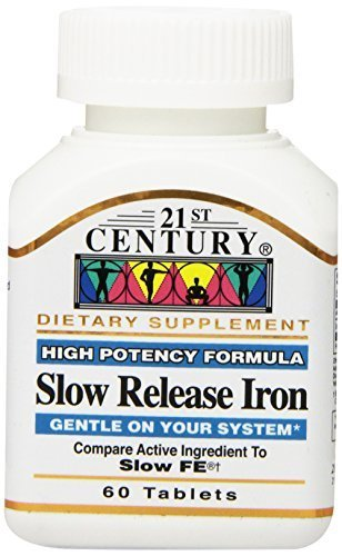 21st Century Slow Release Iron Tablets, 60 Count by 21st Century (Century Slow Release Iron compare prices)