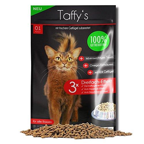 Katzenfutter Getreidefrei Taffy´s Geflügel 600 g Trockenfutter Probierangebot