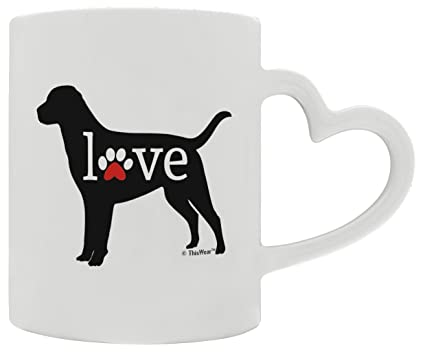 1273f8c84cf3 Amazon.com: Labrador Retriever Gift Love Dog Paw Prints Dog Owner ...