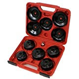 oil filter cap set - XtremepowerUS Universal 10pcs Oil Change Filter Cap Wrench Cup Socket Tool Set