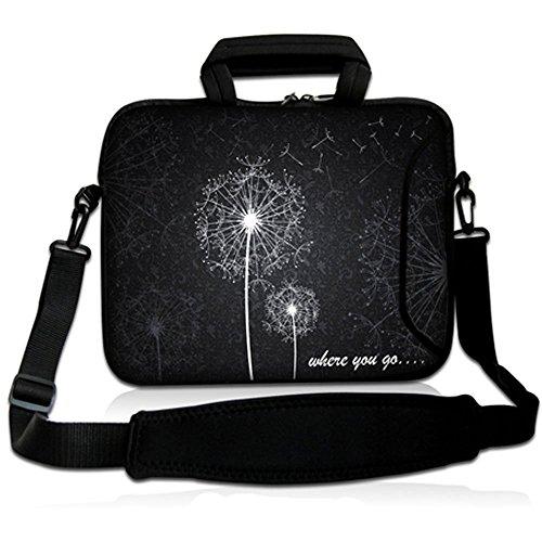 Sidorenko Designer Notebooktasche in zwei Größen erhältlich 15 Zoll - 15,6 Zoll / 17 Zoll - 17,3 Zoll // mit Tragegurt + Tragegriff inkl. Zusatzfach für Maus und Ladegerät an der Vorderseite der Tasche Laptoptasche Tragetasche Umhängetasche Bag