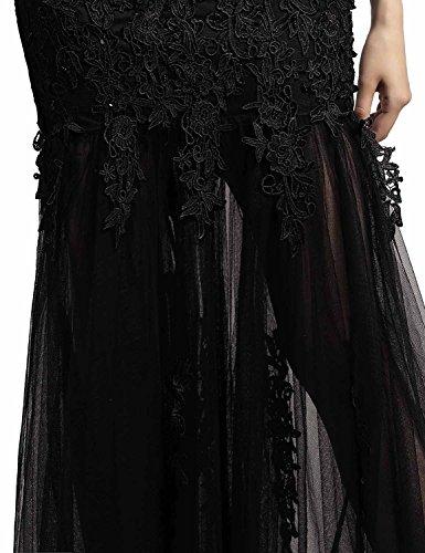 Applikation 310 Ballkleider Weinrot Abendkleider Abschusskleider Damen Clearbridal CSD181 Chiffon Lange mit 6ng0wq7