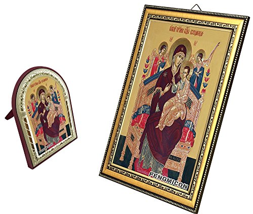 FengMicon Painting Art of Greek Orthodox Church Catholic Religious Icon Picture Mother Mary Baby Christ with Frame for Home Decor Church Suppliers - Greek Religious Art