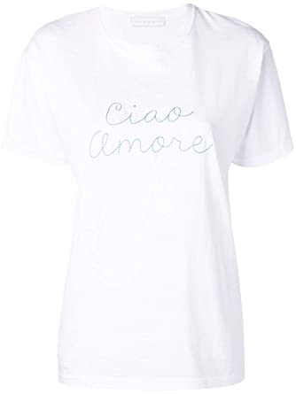 Amazon Com Giada Benincasa P990111 Women S White Cotton T Shirt