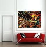 SUPERMAN V MUHAMMAD ALI 1978 GIANT WALL ART PRINT POSTER B180