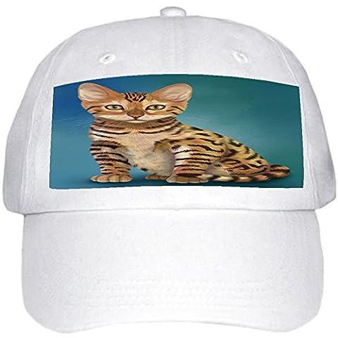 Chinese Li Hua Kitten Cat Ball Hat Cap Off White (White) - 20101 Cap