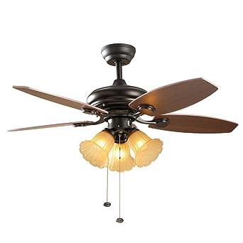 MMYNL Ventilador de techo con lámpara de 42 pulgadas ...