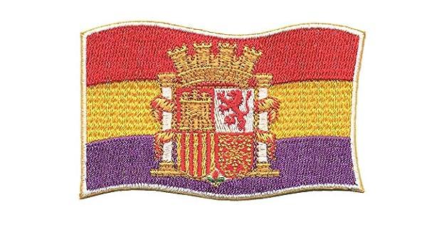 LGP - PARCHE bordado en tela BANDERA REPUBLICANA CON ESCUDO: Amazon.es: Hogar