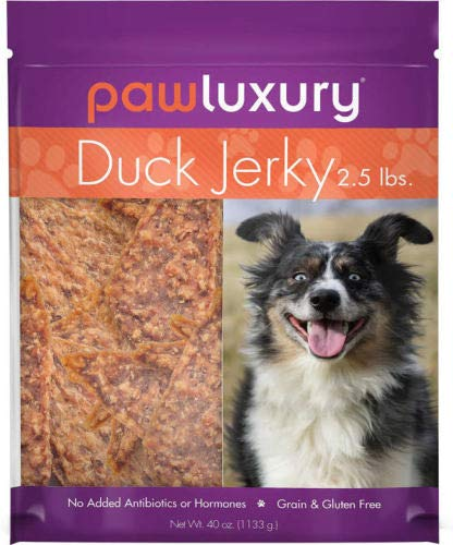 (Paw Luxury Duck Jerky 2.5lbs,  No Grain, Gluten, Antibiotics or Hormones)