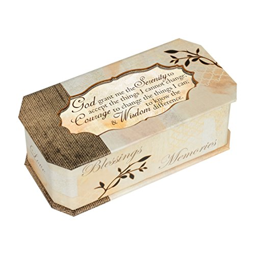 Cottage Garden God Grant Me Serenity Prayer Tree Branch Jewelry Music Box Plays - Music Serenity Box