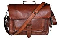 cuero 17 Inch Vintage Handmade Leather Messenger Bag for Laptop Briefcase Best Computer Satchel School Distressed Bag by Handmadecraft