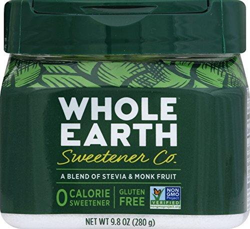 WHOLE EARTH SWEETENER CO. NATURE SWEET Stevia & Monk Fruit Blend, Erythritol Sweetener, Sugar Substitute, Natural Sweetener, 9.8 Ounce Jar