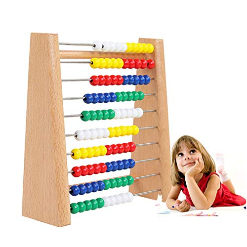 - HIPPOR Classic Wooden Abacus Math Counting Toy, Wooden Frame Abacus 100 Beads 10 Rows, Learning Mathematics Abacus, Educational Counters Beads Toys for Girls Boys