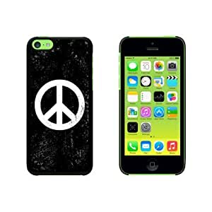 Peace Sign Distressed Inspirational Snap On Hard Protective For Iphone 6 Plus Phone Case Cover - Black