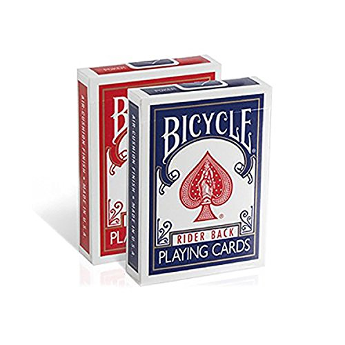 Poker Size Standard Index Playing Cards - Packs in Bulk Wholesale (Pack of 24) by Bicycle