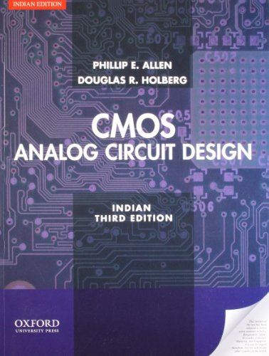 Design Of Analog Cmos Integrated Circuits India Edition