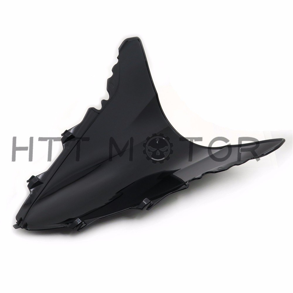 HTTMT CFP-1020-3 Double Bubble Windshield Windscreen Compatible with Yamaha YZF-R1 2009-2014 2010 2011 12 13
