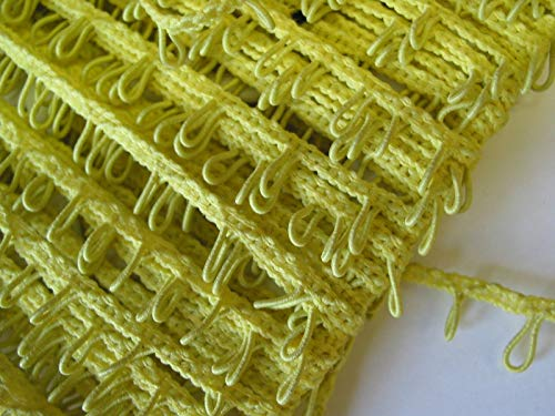 Designer Fabric - Trim Braid Loop Edge Lemon Yellow 1/2 w 10 yds Unique - Clothing & Fashion Apparel Trimmings
