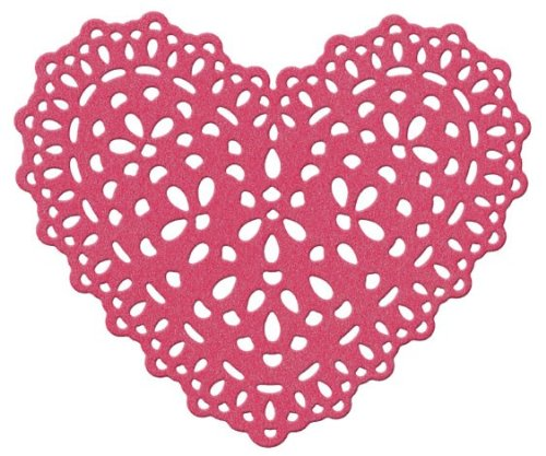 QUICKUTZ Lifestyle Crafts Doily Heart 4-Inch by 4-Inch Die